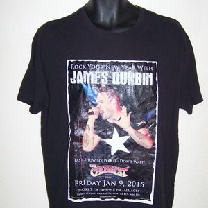 New Year with James Durbin poster black t shirt
